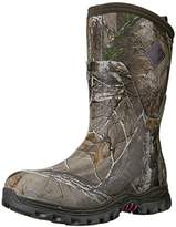 Muck Boot Women's Girls With Guns Arctic Hunter Mid Bark/Realtree/Phlox Pink Extreme-Conditions Hunting Boot