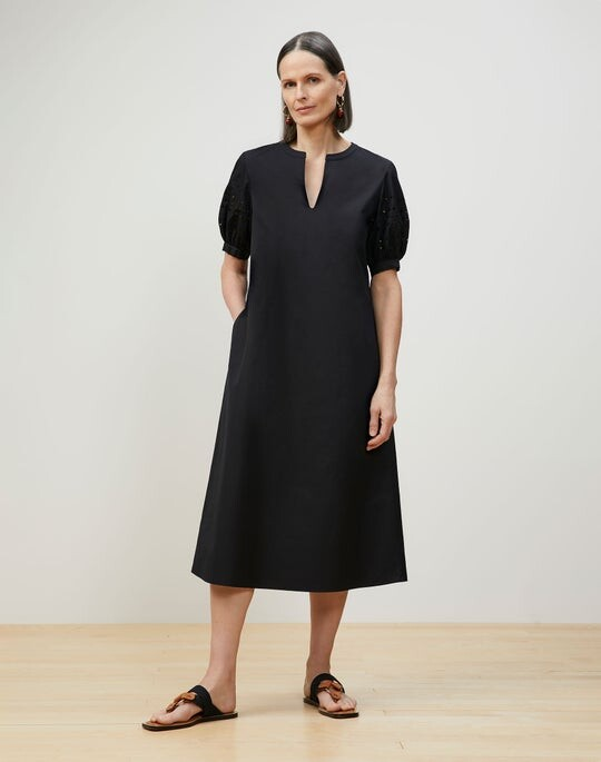 Thumbnail for your product : Lafayette 148 New York Miriam Midi Dress In Italian Sculpted Kindcotton