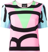 Moschino colour block T-shirt - women - Polyester/other fibers - 46