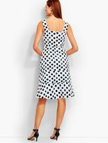 Talbots Water Dots Tiered Sundress