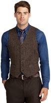 Brooks Brothers Harris Tweed Herringbone Vest