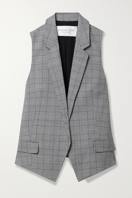 Michael Kors Collection - Antibes Checked Wool Vest - Light gray