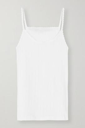 Leset Pointelle-knit Cotton-jersey Tank - White