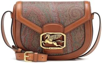 Etro Pegaso printed leather shoulder bag