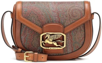 Etro Pegaso paisley leather shoulder bag