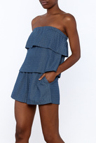 Ellison Textured Chambray Romper