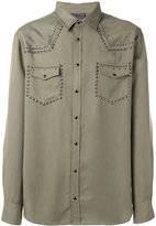 Laneus metallic-embellished shirt - men - Tencel - 52