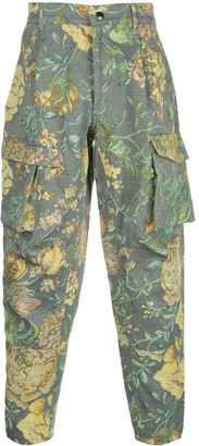 Givenchy Floral Jacquard Cargo Trousers