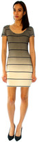 Saint Grace Sunset Stripe Clover Mini Dress In Fifty Ombre Wash