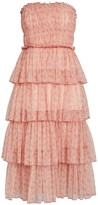 Jonathan Simkhai Harlyn Tiered Floral Tulle Dress