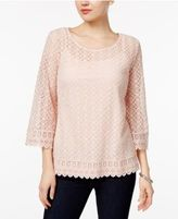 Style&Co. Style & Co Bell-Sleeve Lace Top, Only at Macy's