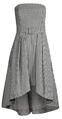 Shoshanna Women's Tina Belted Gingham Midi Dress
