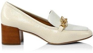 Tory Burch Jessa Block-Heel Leather Loafers