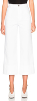 Stella McCartney High Waisted Crop Trousers in White.