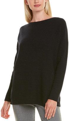 Lafayette 148 New York Bateau Neck Wool Sweater
