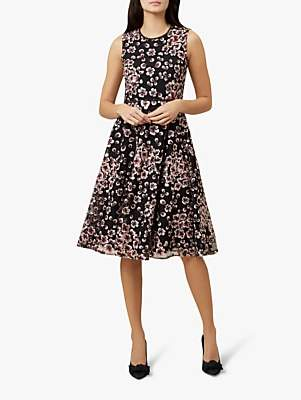 Hobbs Lilith Dress, Pink/Black