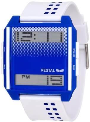 Vestal Men's DIG020 Digichord Ultra Thin White Blue Watch