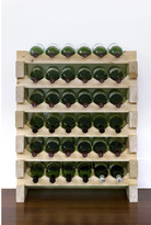 6 Layers of 6 Bottles Wine Rack Finish: Natural