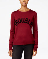 Ultra Flirt Juniors' Trouble Graphic Sweater