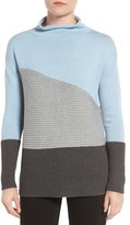 Vince Camuto Petite Women's Colorblock Turtleneck Sweater