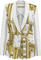 Versace Printed Crepe De Chine Blazer