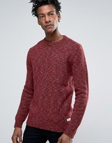 Jack Wills Chunky Twist Crew Jumper Lambswool Melange