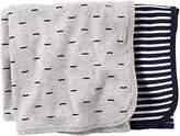 Carter's 2 pk Swaddle Blanket- Navy Grey - Navy Grey by