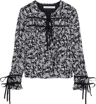 Rebecca Minkoff Quinn Bow-detailed Printed Georgette Blouse