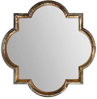 One Kings Lane Quatrefoil Wall Mirror - Gold Leaf