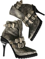 Alexander Wang Grey Leather Ankle boots