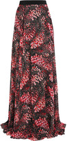 Giambattista Valli Printed Silk-georgette Maxi Skirt - Black