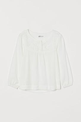H&M Blouse with a lace yoke