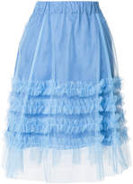P.A.R.O.S.H. ruffle tulle A-line skirt