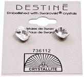 Crystallite Destine Clear Oval Earring