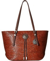 American West Dallas Zip Top Tote Tote Handbags