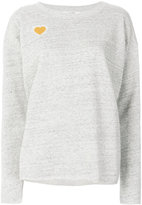 Closed heart patch sweater
