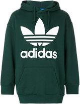 adidas Trefoil print hoodie