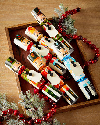 Robin Reed 6 English Christmas Crackers - Full-Length Nutcrackers With Place Cards