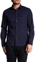 Kenneth Cole New York Long Sleeve Rain Print Trim Fit Shirt