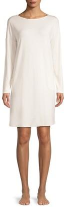 Hanro Natural Elegance Long-Sleeve Nightgown
