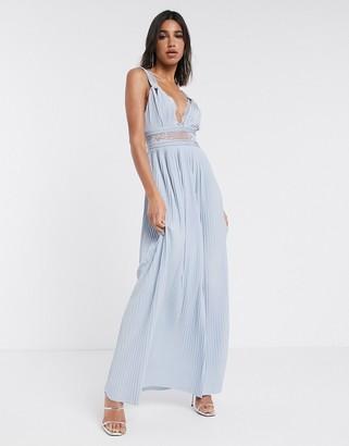 ASOS DESIGN Premium twist strap lace insert maxi dress