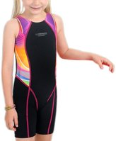Perfashion Children Girl's Competive Legsuit Muscleback Swimsuit