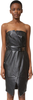 Camilla And Marc Strapless Leather Dress