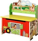Teamson Kids Fantasy Fields Happy Farm Storage Bench