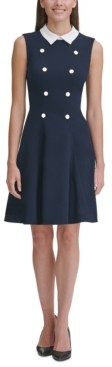 Tommy Hilfiger Petite Collared Shift Dress