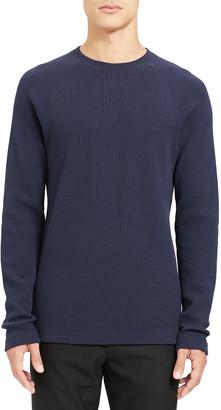 Theory Men's River Organic Waffle-Knit Raglan Sweater
