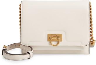 Salvatore Ferragamo Gancio Square Calfskin Leather Crossbody Bag
