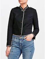 Maison Scotch Military-Style Jacket, Navy/Black