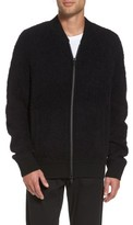Vince Men's Fleece Wool Blend Bomber Jacket