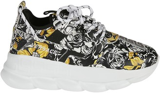 Versace All-over Floral Printed Sneakers